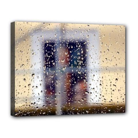 Rainy Day 11  X 14  Framed Canvas Print