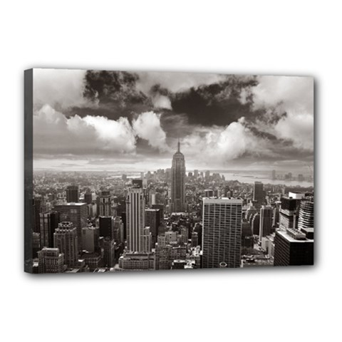 New York, Usa 12  X 18  Framed Canvas Print by artposters