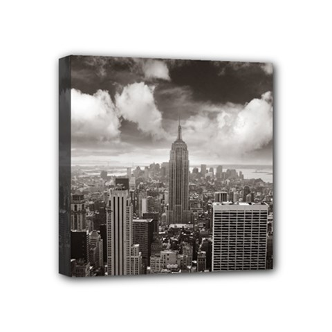 New York, Usa 4  X 4  Framed Canvas Print by artposters