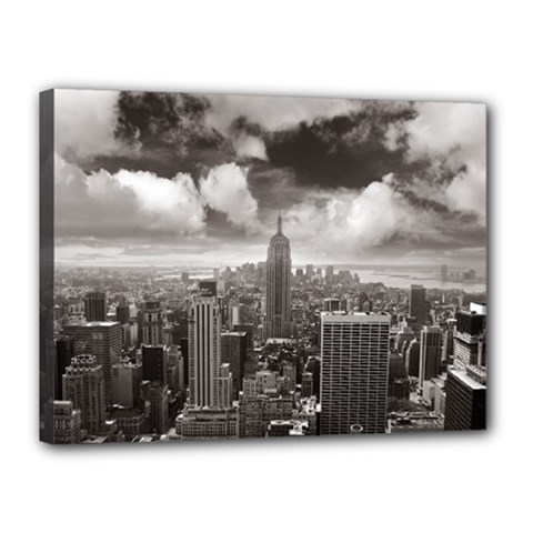 New York, Usa 12  X 16  Framed Canvas Print by artposters