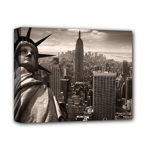 Statue Of Liberty, New York Deluxe Canvas 14  X 11  (stretched)