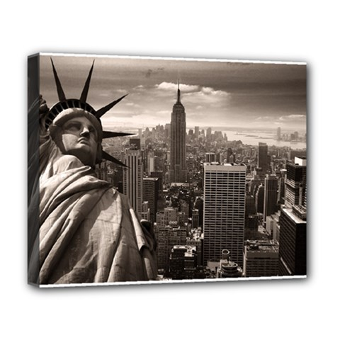 Statue Of Liberty, New York Deluxe Canvas 20  X 16  (stretched) by artposters