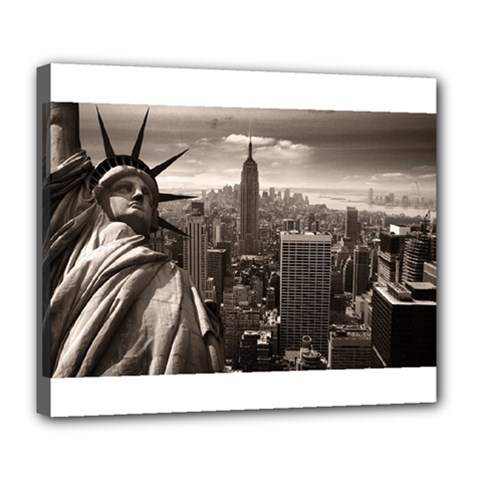 Statue Of Liberty, New York Deluxe Canvas 24  X 20  (stretched) by artposters