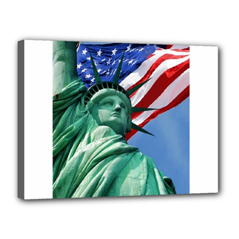 Statue Of Liberty, New York 12  X 16  Framed Canvas Print
