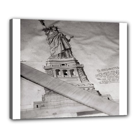 Statue Of Liberty, New York 16  X 20  Framed Canvas Print by artposters
