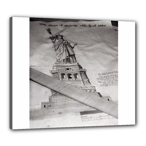 Statue Of Liberty, New York 20  X 24  Framed Canvas Print by artposters