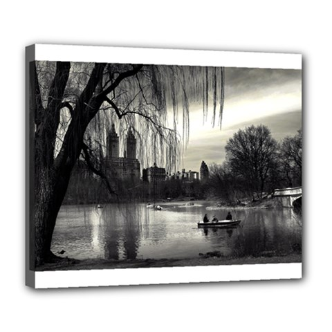 Central Park, New York Deluxe Canvas 24  X 20  (stretched) by artposters