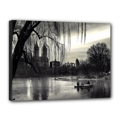Central Park, New York 12  X 16  Framed Canvas Print by artposters