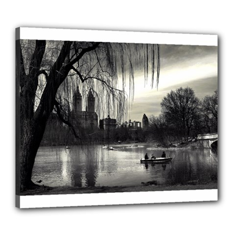 Central Park, New York 20  X 24  Framed Canvas Print by artposters