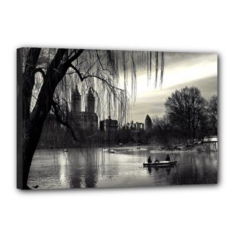 Central Park, New York 12  X 18  Framed Canvas Print