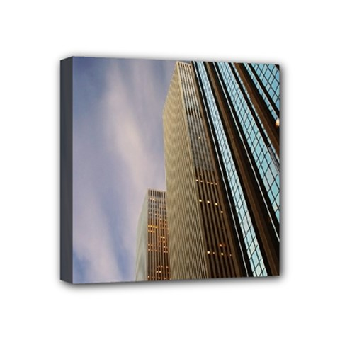 Skyscrapers, New York 4  X 4  Framed Canvas Print by artposters
