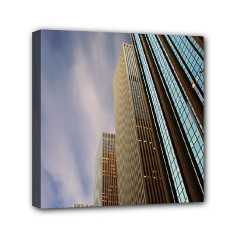 Skyscrapers, New York 6  X 6  Framed Canvas Print by artposters