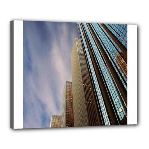 Skyscrapers, New York 16  X 20  Framed Canvas Print by artposters