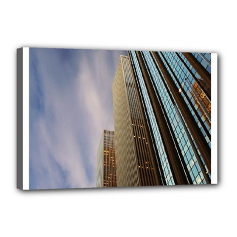 Skyscrapers, New York 12  X 18  Framed Canvas Print by artposters