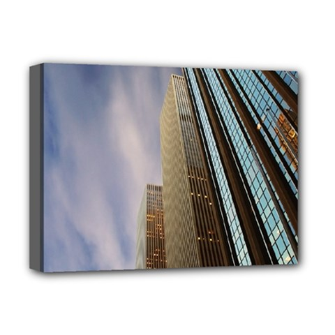 Skyscrapers, New York Deluxe Canvas 16  X 12  (stretched)  by artposters