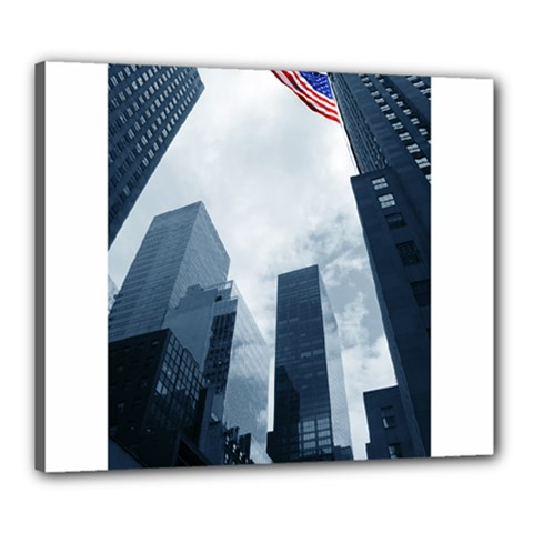 Skyscrapers, New York 20  X 24  Framed Canvas Print by artposters