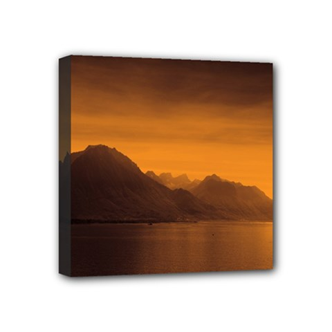 Waterscape, Switzerland 4  X 4  Framed Canvas Print by artposters