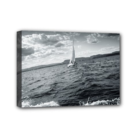 Sailing 5  X 7  Framed Canvas Print by artposters