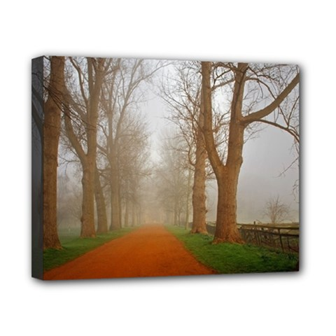 Foggy Morning, Oxford 8  X 10  Framed Canvas Print by artposters