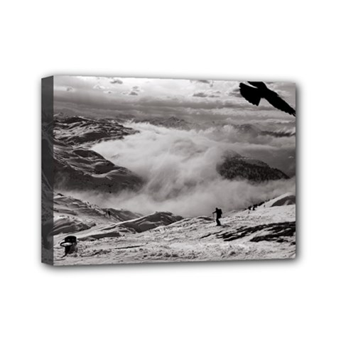 Untersberg Mountain, Austria 5  X 7  Framed Canvas Print by artposters