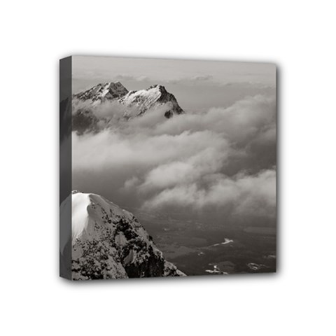 Untersberg Mountain, Austria 4  X 4  Framed Canvas Print