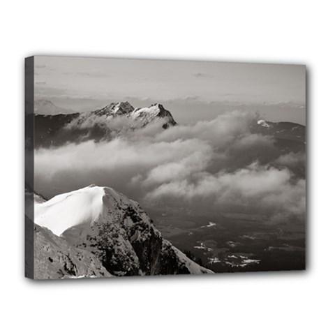 Untersberg Mountain, Austria 12  X 16  Framed Canvas Print