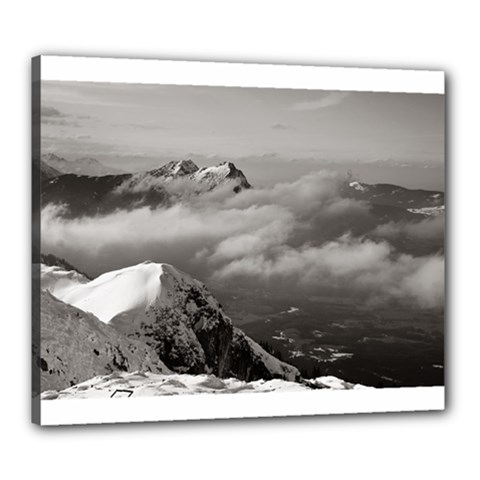 Untersberg Mountain, Austria 20  X 24  Framed Canvas Print by artposters