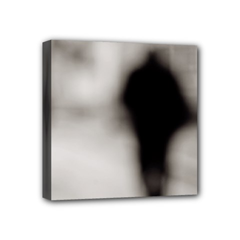 People Fading Away 4  X 4  Framed Canvas Print