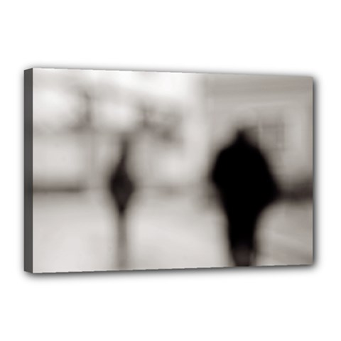 People fading away 12  x 18  Framed Canvas Print by artposters