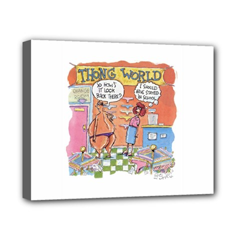 Thong World 8  X 10  Framed Canvas Print by mikestoons