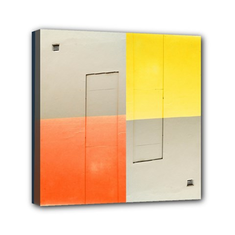 Geometry 6  X 6  Framed Canvas Print by artposters