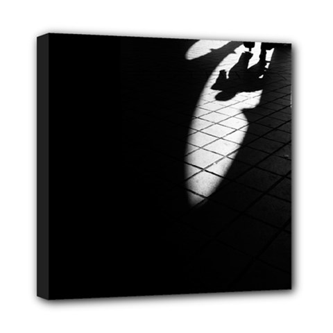Shadows 8  X 8  Framed Canvas Print by artposters