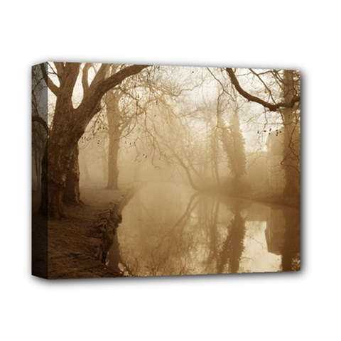 Misty Morning Deluxe Canvas 14  X 11  (stretched) by artposters