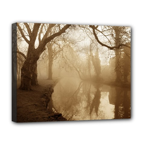 Misty Morning Deluxe Canvas 20  X 16  (stretched) by artposters