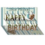 3d-birthday card  (boy) with your photo , messages - and   teddy bears - Happy Birthday 3D Greeting Card (8x4)