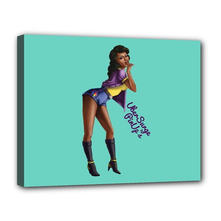 Pin Up 2 11  x 14  Framed Canvas Print
