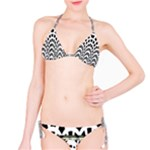 Black and White Bikini - Bikini Set