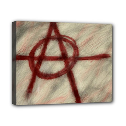 Anarchy Print 8  X 10  Framed Canvas Print by VaughnIndustries