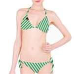 Cherry Green Stripes Bikini - Bikini Set