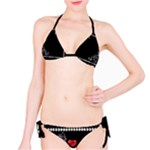 Pretty Heart Black Bikini - Bikini Set