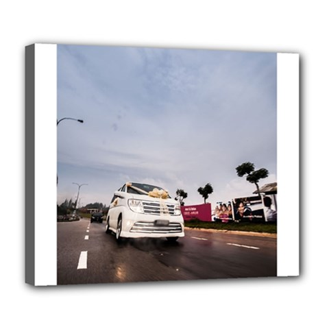 Wedding Car Deluxe Canvas 24  X 20  (stretched)
