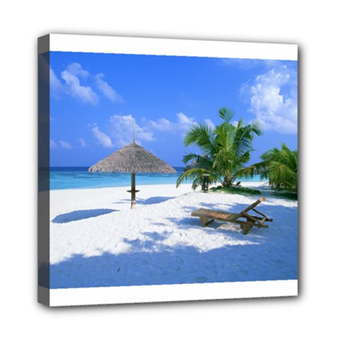Beach 8  X 8  Framed Canvas Print