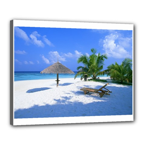 Beach 16  X 20  Framed Canvas Print by Unique1Stop