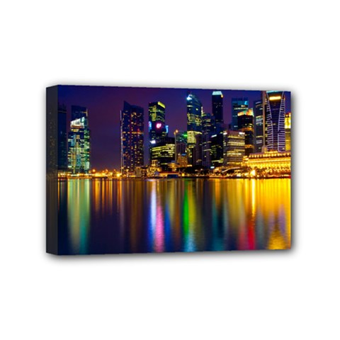 Night View 4  X 6  Framed Canvas Print by Unique1Stop