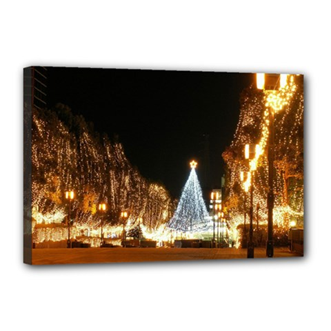 Christmas Deco 12  X 18  Framed Canvas Print by Unique1Stop