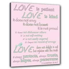 Church Bible Verse 1Cor No.2 - Canvas 24  x 20  (Stretched)