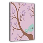 Official Church Tree Birds - Canvas 18  x 12  (Stretched)