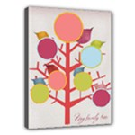 Colorful Family Tree (girly) 16x12 Canvas - Canvas 16  x 12  (Stretched)