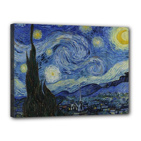 Starry night Canvas 16  x 12  (Framed) by ArtMuseum