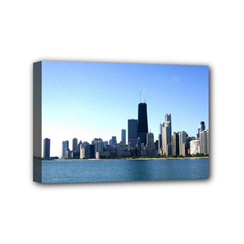 Chicago Skyline Mini Canvas 6  X 4  (framed) by canvasngiftshop